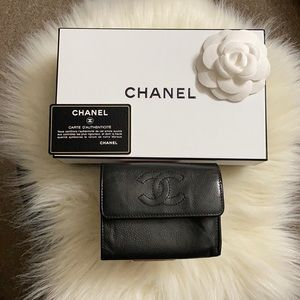 CHANEL Caviar Leather Vintage Wallet